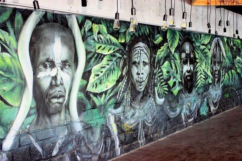 Роспись стен в ресторане VODA
