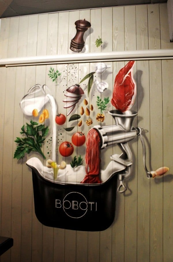 Аэрография в ресторане BOBOTI
