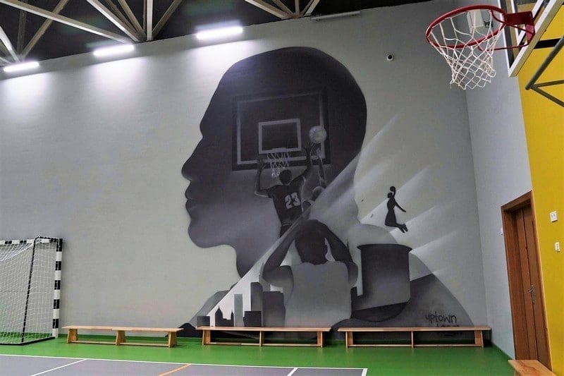 Decoration of the gym in the school