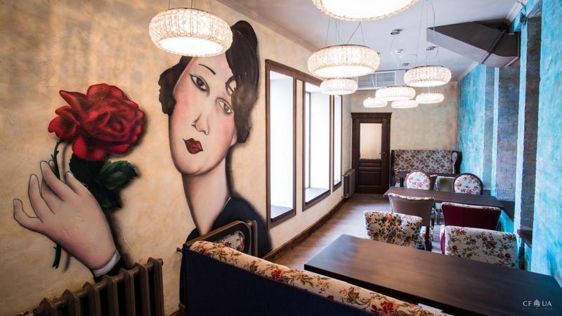 Фреска в ресторане Givi Rubinstein