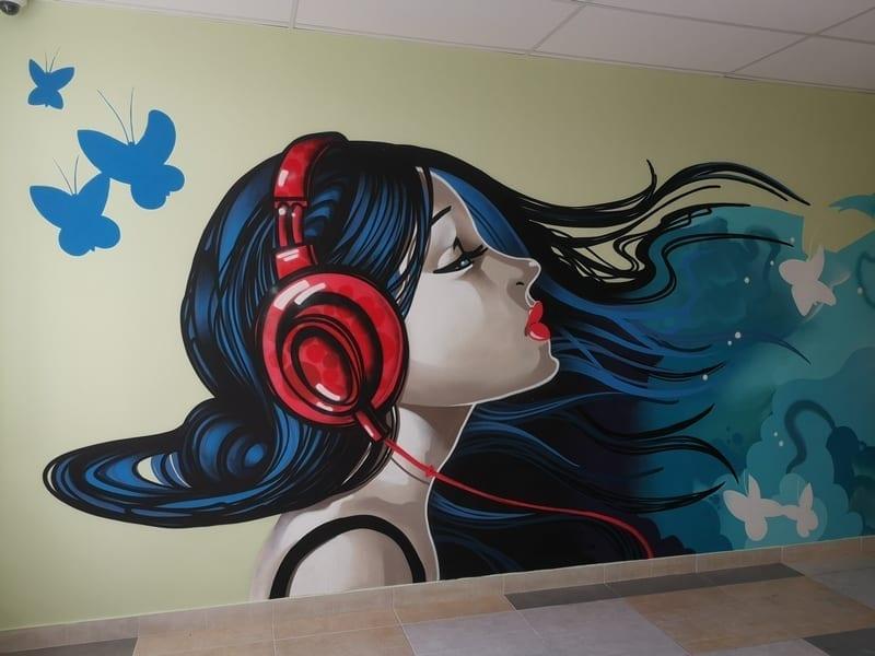 Граффити в школе