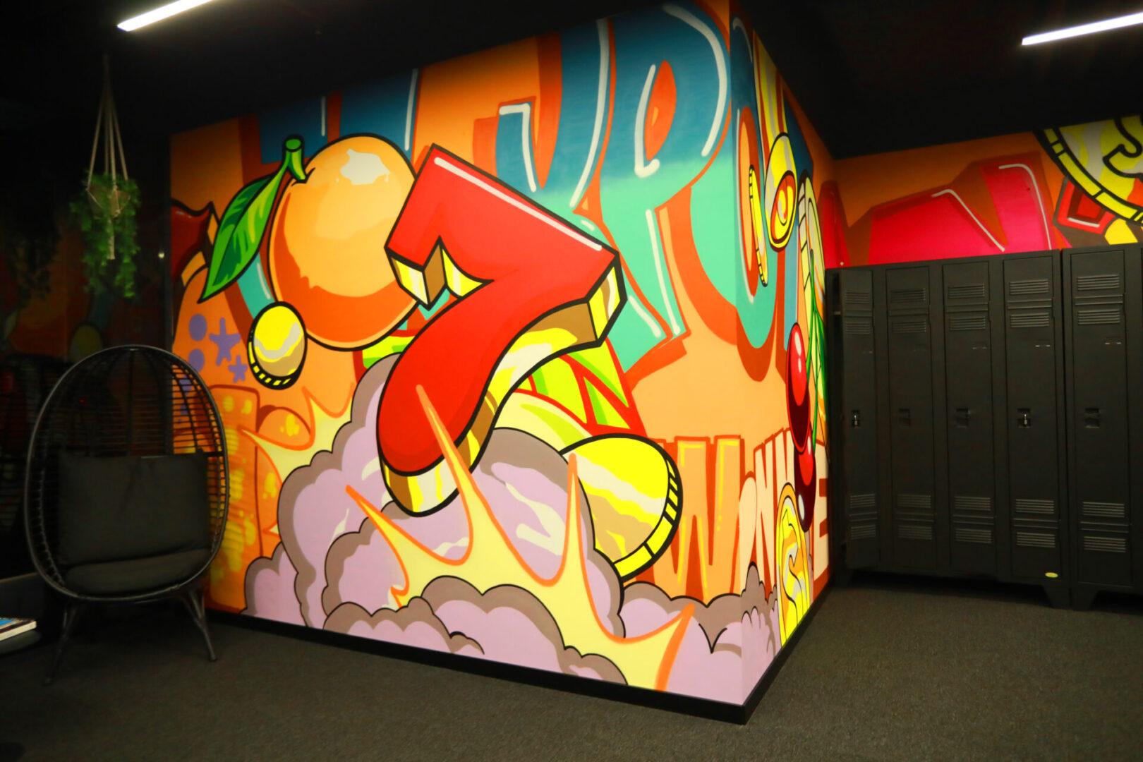 Художественное оформление офиса IT компании (часть 2) UT-ART STUDIO граффити семерка