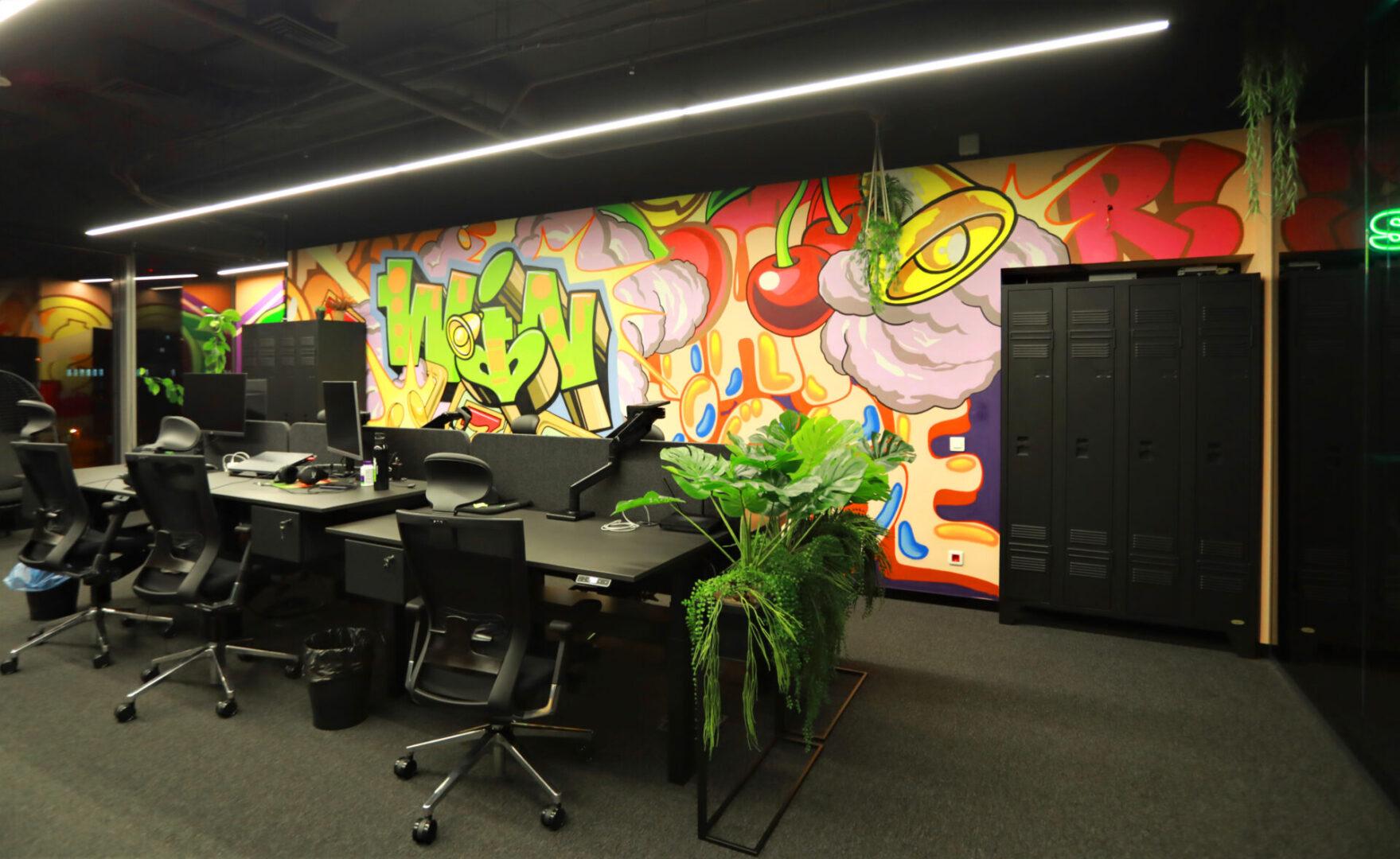 Художественное оформление офиса IT компании (часть 2) UT-ART STUDIO общий план