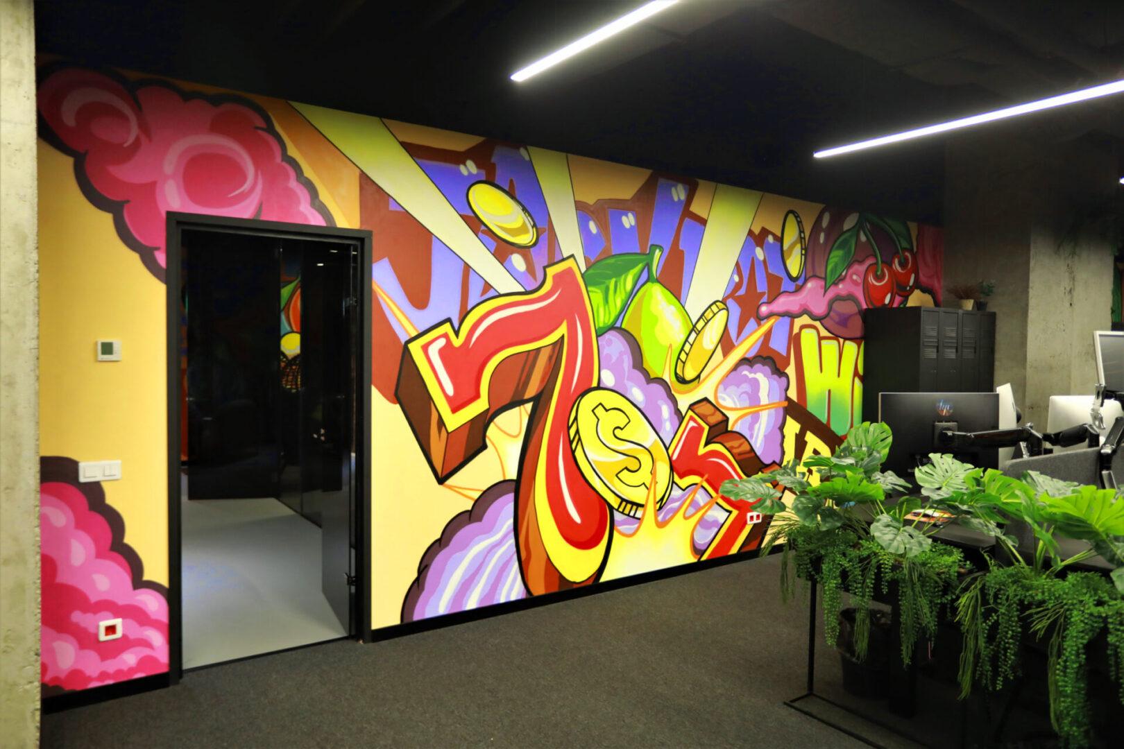 Художественное оформление офиса IT компании (часть 2) UT-ART STUDIO стена