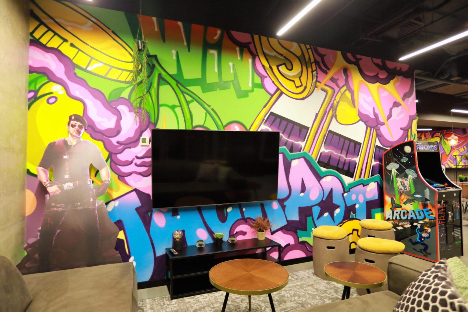 Художественное оформление офиса IT компании (часть 2) UT-ART STUDIO лаундж бар