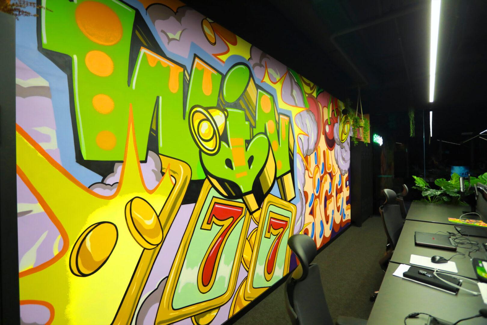 Художественное оформление офиса IT компании (часть 2) UT-ART STUDIO граффити