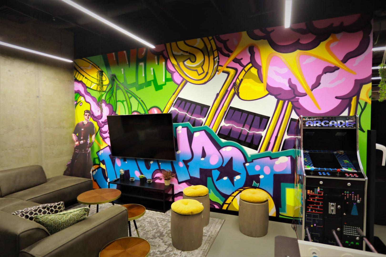 Художественное оформление офиса IT компании (часть 2) UT-ART STUDIO аркада