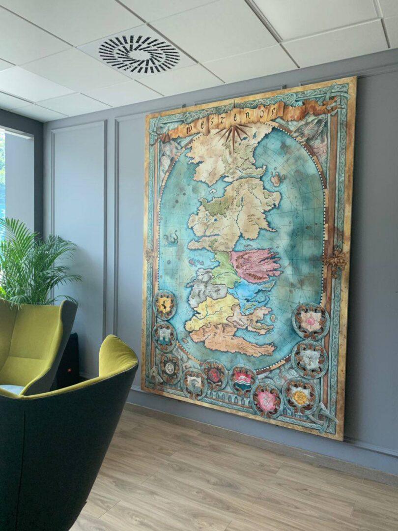 Картина на заказ Карта Вестероса - UT-ART STUDIO 2