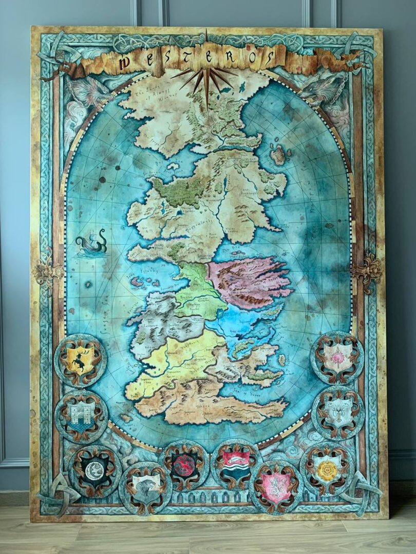 Картина на заказ Карта Вестероса - UT-ART STUDIO основа
