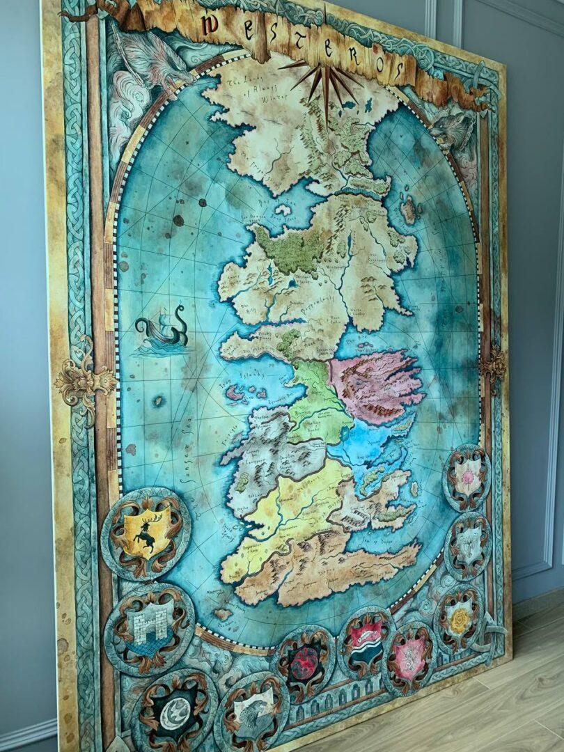 Картина на заказ Карта Вестероса - UT-ART STUDIO