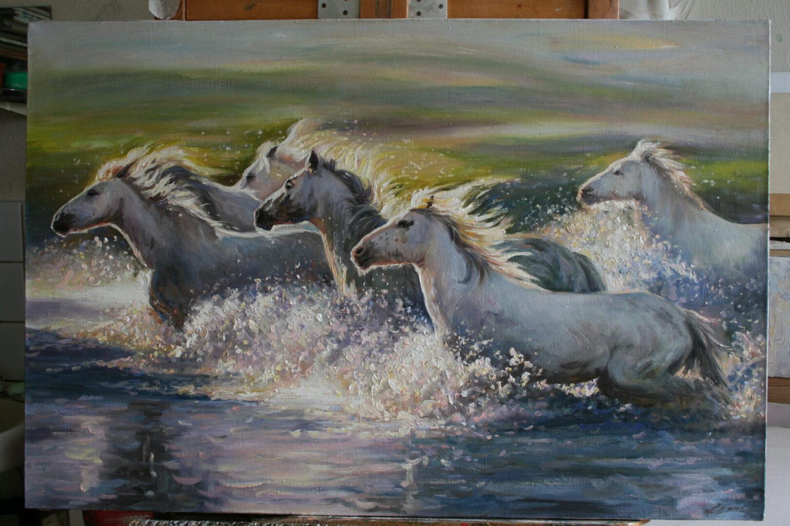 Картина на заказ Кони - UT-ART STUDIO