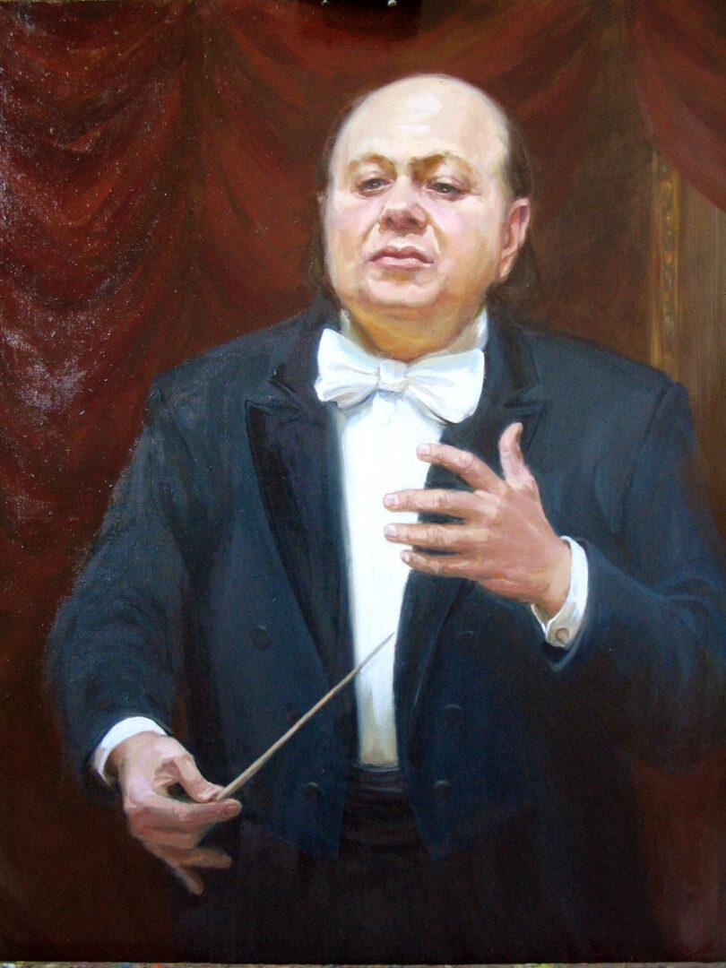 Картина на заказ Портрет дирежера Рахлина - UT-ART STUDIO