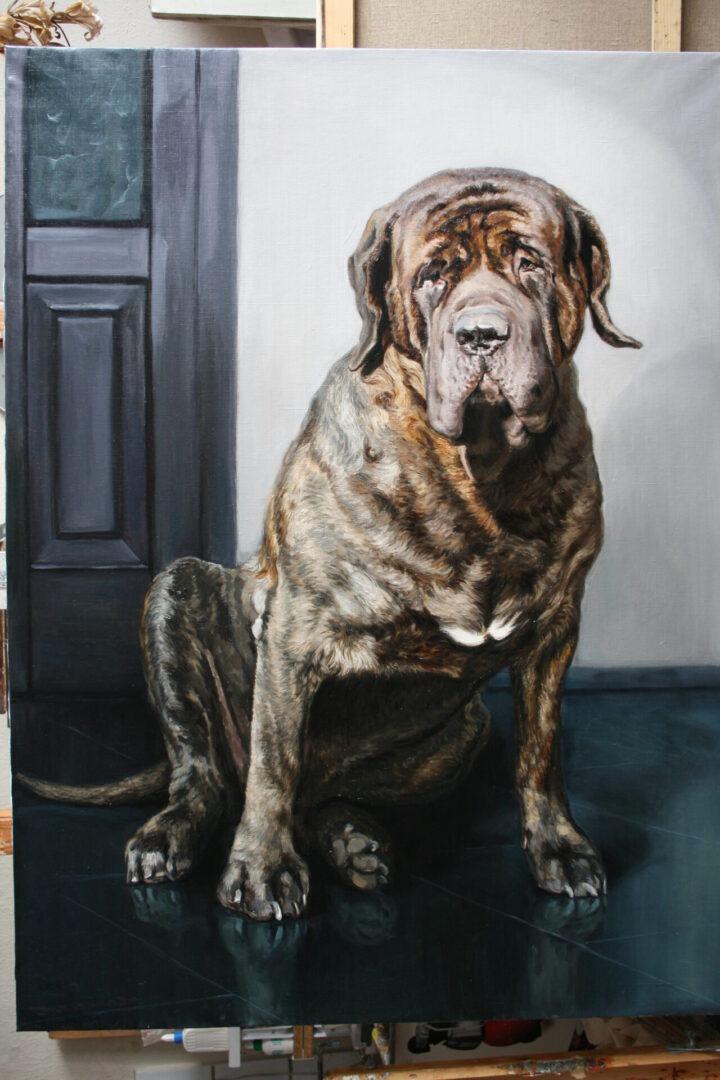 Картина на заказ портрет собаки 4 - UT-ART STUDIO