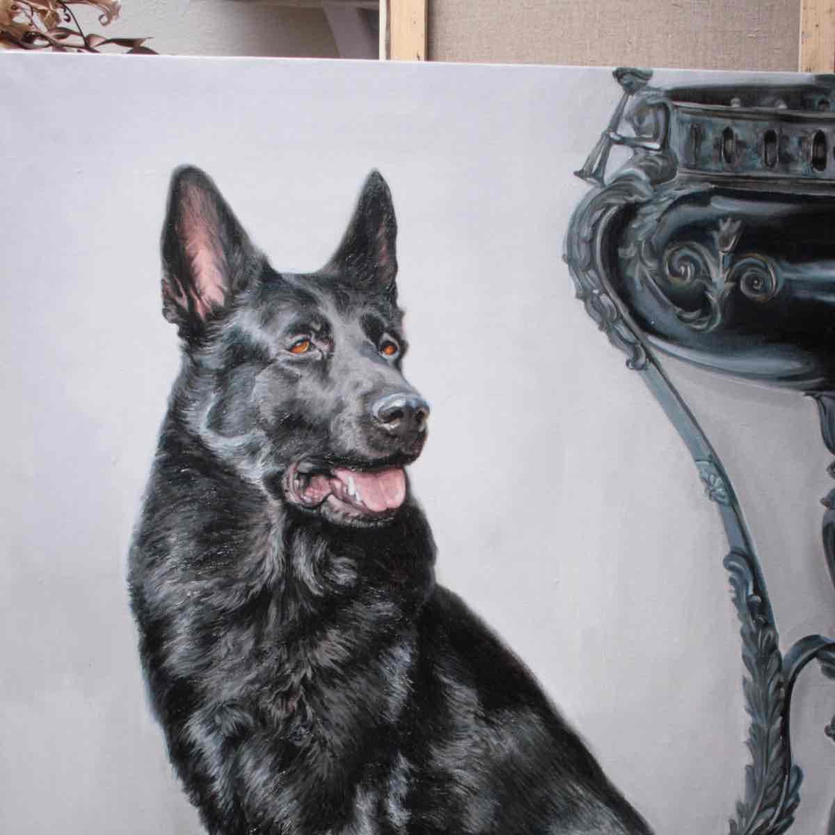 Картина на заказ портрет собаки превью
