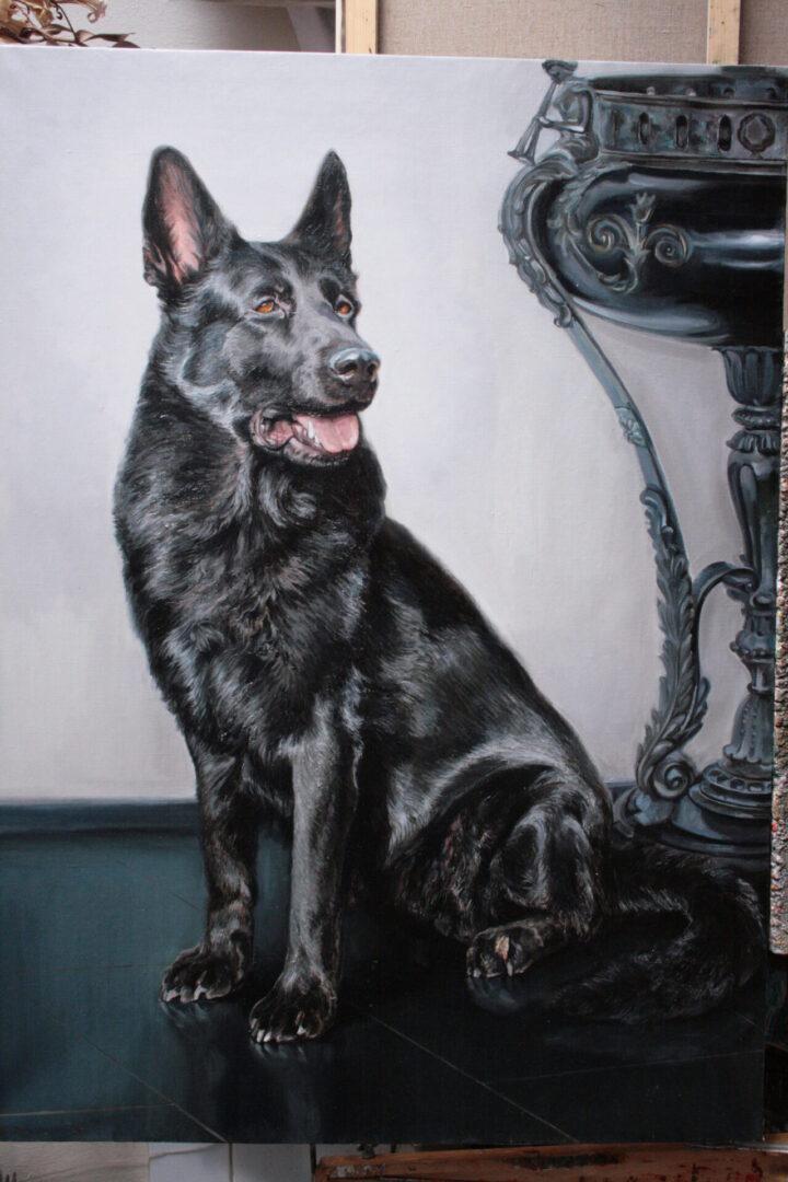 Картина на заказ портрет собаки