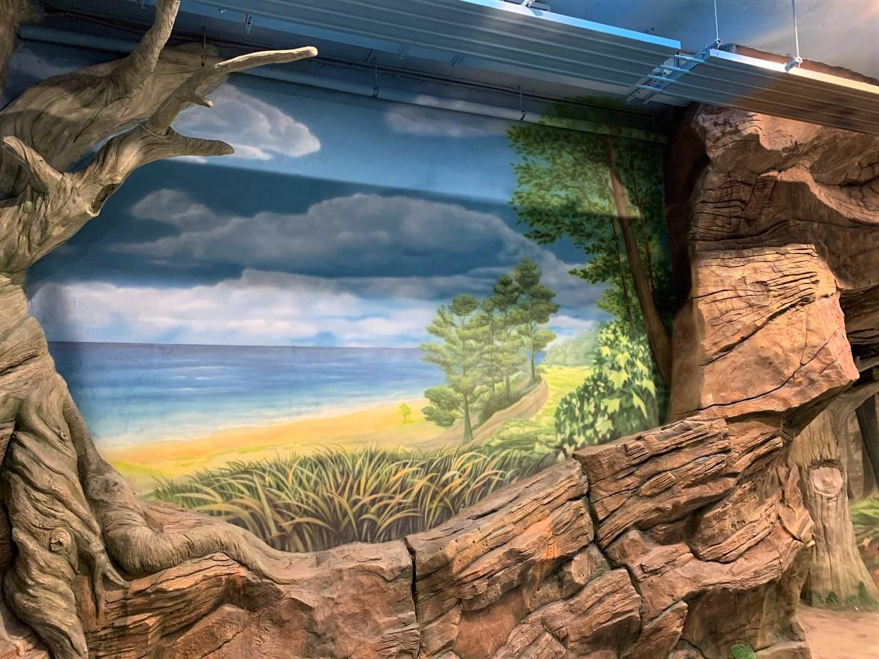 фРоспись вольера на заказ в Киевском зоопарке пляж